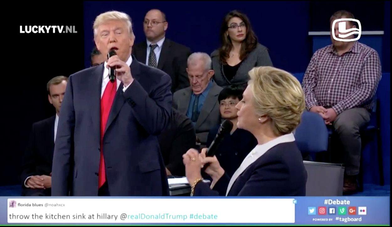 Afbeelding van LuckyTV Vintage: Duetten Clinton en Trump