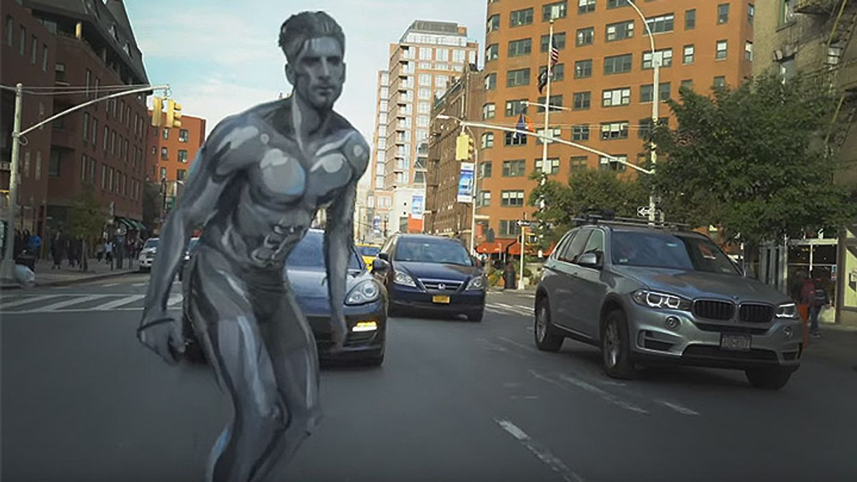 Afbeelding van Web Draait Door: Silver Surfer tijdens Halloween