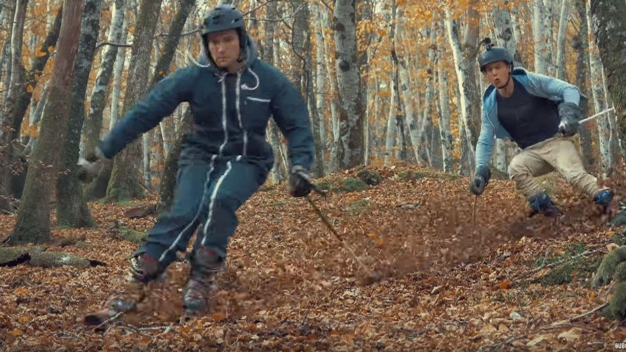 Afbeelding van Web Draait Door: Skiën op herfstbladeren