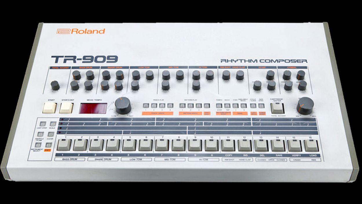Afbeelding van De 909 drumcomputer, koning van de dance