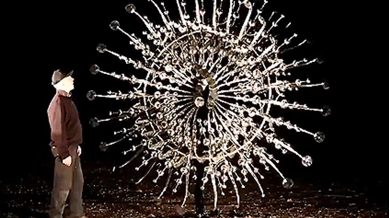 Afbeelding van Web Draait Door: kinetisch object.