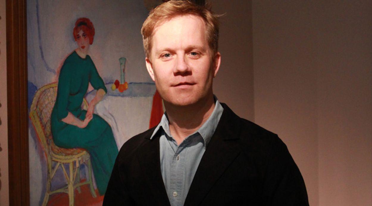 Afbeelding van Redacteur Pieter Eckhardt was bij de presentatie van de Rembrandt portretten.